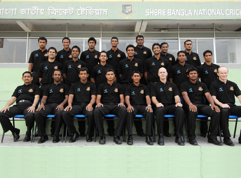 The Bangladesh Cricket team and officials